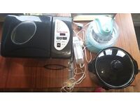 Bread and icecream maker, slowcooker and electic knife