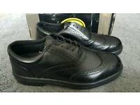 Capps LH707 Black leather Executive Brogue Safety Shoes Size 12