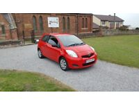 59 REG TOYOTA YARIS T2 1.0 VVT-I RED 3DR MOT-18 £30-TAX OUTSTANDING FREE-DELIVERY CHEAP CAR EXPORT