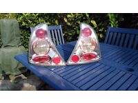 Renault Clio MK2 Clear Rear Lights (pair) (includes bulbs and holders)