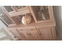 Large dresser with mirrors, drawers, and lights. In excellent condition.
