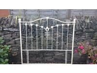 Laura Ashley cream wrought iron hedboard