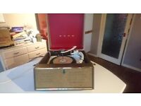 VINTAGE 1960S BUSH SPC 31D VINYL PORTABLE RECORD PLAYER GARRARD 210 TURNTABLE GWO G/C FABULOUS