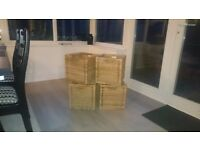 Ikea storage wicker boxes x 4