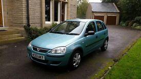 2003/53 Vauxhall Corsa 1.2 16v life, 5 door hatchback, manual , petrol,