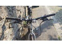 Ladies Hybrid Bike with lights, helmet, saddle bag ...