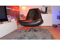Black Leather Swivel Chair in pristine MINT condition.