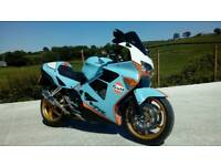 Honda VFR 800 1999 custom gulf paint job