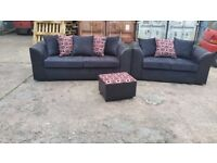 NINA 3+2 SOFA SET BRAND NEW PACKED £375 PLUS FREE DELIVERY PLUS FREE FOOTSTOOL !!!