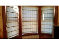 Lovely Brown Roman Blinds Tailor Made RRP £900