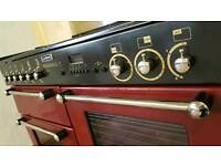 LEISURE RANGEMASTER 110CM RANGE COOKER IN CLARET AND CHROME