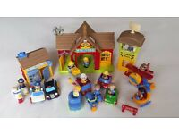 Happyland bundle (Airport, fire station, police station) 26 items GOOD CONDITION