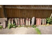Roof tiles - assorted - approx 10. Some are slightly damaged (corners missing - but 5 are good .