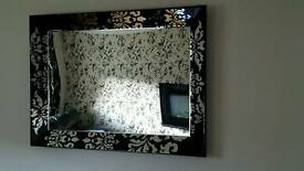 Large decorative wall mirror
