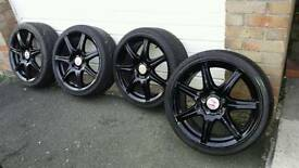 Set of 4 Alloy wheels genuine Honda Civic Type R FN2