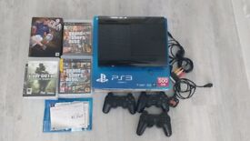 PS3 500GB with 30+ games, 3 controllers and original box.