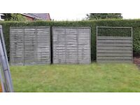 wood panel fencing