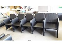 BROWN RATTAN EFFECT GARDEN CHAIRS WITH RECLINING BACK (5 AVAILABLE) CAN DELIVER