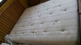 King size pocket springs mattress in good condition pet and smoke free home. Collection only.