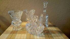 Selection of vintage cut glass