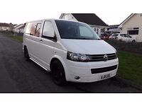 VW TRANSPORTER KOMBI BITDI 180 BHP 6 SPEED LOW MILES CRUISE SPORTLINE WHEELS - EXCELLENT!