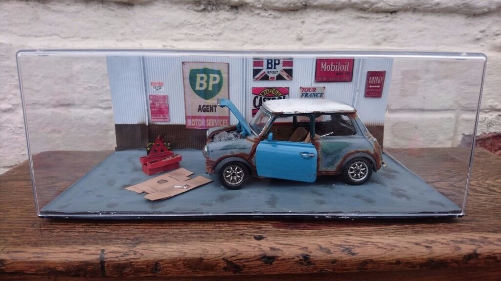 FABULOUS ONE OFF CLASSIC CAR DIECAST MINI COLLECTABLE DIORAMA ...