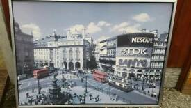 IKEA large Piccadilly circus London print in frame!