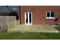 Decking and fencing supplied and erected