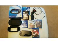 SONY PS VITA 3 GAMES 2 SEALED 4GB MEMORY BOXED WITH EXTRAS