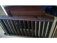 brown cot bed