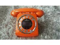Sagecom Sixty Digital Cordless Retro Style Telephone with Answering Machine - unused