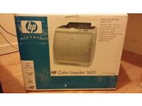 HP Color Laserjet 1600 printer used with free cables and original box