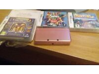 quick sale pink nintendo 3ds with camera and games