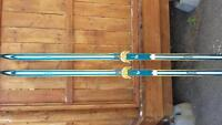 Landed wooden cross country skis- touring