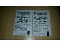 x2 Chessington tickets