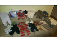 Bundle of baby boy clothes size 3-6 months