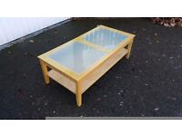 Coffee Table Frosted Glass Inserts 120cm FREE DELIVERY 309