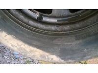 vw polo wheels amd tyres set of 4