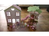 ELC rosebud cottage and tree house