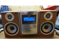 JVC Micro Stereo with 5 CD Changer and MP3 Playback