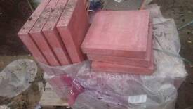 Red paving slabs 400mm by 63mm industrial size