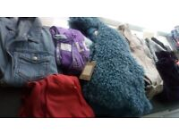 Ladies clothes bundle, coats and jumpers sizes 10,12, 14-16