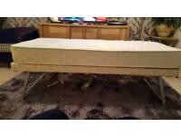 Small folding bed and matress