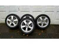 Saab alloys with winter tyres