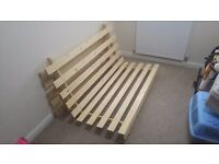 Futon - double bed size. Excellent condition and never slept in, only sat on briefly. Non-smokers.