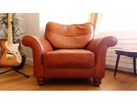 Genuine leather John Lewis Armchair