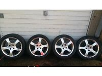 "16 "" alloy wheels 4x100 pcd, 205 45 16, honda civic, corsa, golf e30 bmw, LONDON"