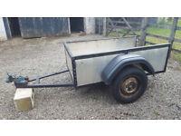 Tidy car trailer in good sound running order – 5' x 3' (54 x 92cm)