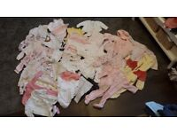 Cute bundle of baby girl clothes 0-3