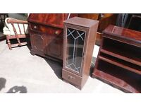 Glass Panel DVD Cabinet with Single Drawer